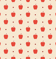 Retro seamless pattern Red apples and dots vector image vector image