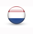 Round icon with national flag of Netherlands vector image vector image