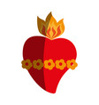 sacred heart cartoon icon image vector image vector image