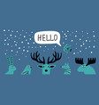scandi winter banner vector image