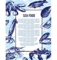 Sea food banner or flyer Good as a template of vector image vector image