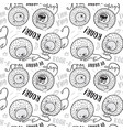 seamless pattern lions in cartoon style ideal vector image