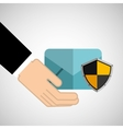 security concept hand with email vector image