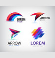 set of abstract 3d colorful logos vector image vector image
