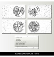 Set of business card templates vector image vector image