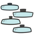 set rear view mirrors vector image vector image