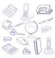 Sketch of business processes vector image vector image