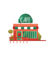 small street cafe city public building front vector image vector image