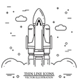 Space shuttle takes off on the white background vector image vector image