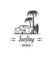 surfing logotype vector image