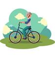 teen boy teenager riding urban bicycle cycling vector image