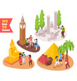 travel isometric concept vector image