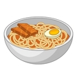 Udon noodles icon cartoon style vector image