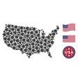 united states map stylized composition of internet vector image vector image
