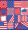 usa flag background set vector image vector image