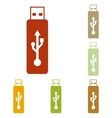 USB flash drive sign vector image vector image