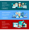 Vaccination Flat Banners vector image