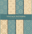 vintage seamless patterns abstract ornaments vector image