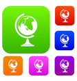 globe set collection vector image