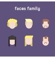 Silhouettes of family faces vector image