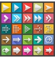 25 arrow icon set vector image