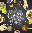 cofee background vector image