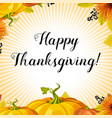 happy thanksgiving day flat design style badge vector image