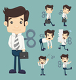 Set of businessman with wind-up key vector image