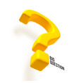 3d yellow question mark vector image
