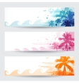 Tropical summer banners