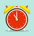 alarm clock flat design icon vector image vector image
