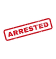 Arrested Text Rubber Stamp