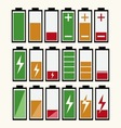Battery Indicator Icons vector image