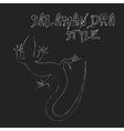 Beautiful monochrome lizard lizard silhouette vector image vector image