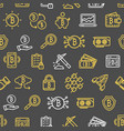 bitcoin currency seamless pattern background on a vector image vector image