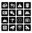 Black Map navigation and Location Icons vector image
