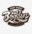 brooklyn east coast custom script lettering vector image