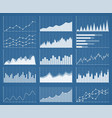 business graphics and charts set vector image