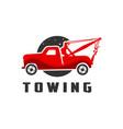 car transport crane service logo vector image vector image