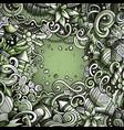 cartoon cute doodles happy new year monochrome vector image vector image