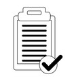 clipboard note symbol black and white vector image vector image