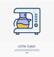 coffee maker thin line icon vector image