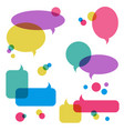 color transparent speech bubbles icons set vector image vector image