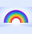 colorful rainbow arch 3d vector image