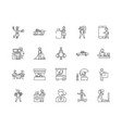 consumer line icons signs set outline vector image vector image