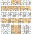 decorative elements in art nouveau style vector image vector image