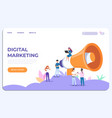 digital marketing landing page specialists vector image