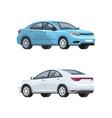 elegant cars semi flat rgb color set vector image