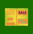 flat shading style icon sale booklet vector image vector image