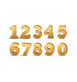 gold number luxury set metal golden royal vector image